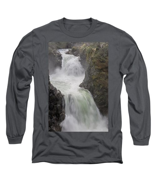 Long Sleeve T-Shirt featuring the photograph Roaring River by Randy Hall