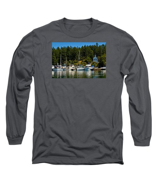 Roche Harbor Marina Long Sleeve T-Shirt