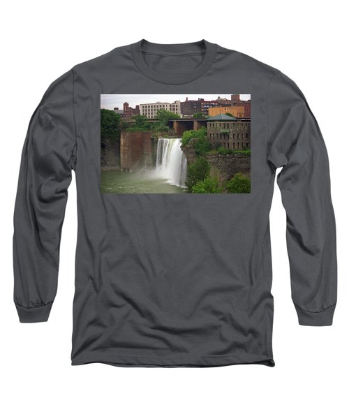 Long Sleeve T-Shirt featuring the photograph Rochester, New York - High Falls 2 by Frank Romeo