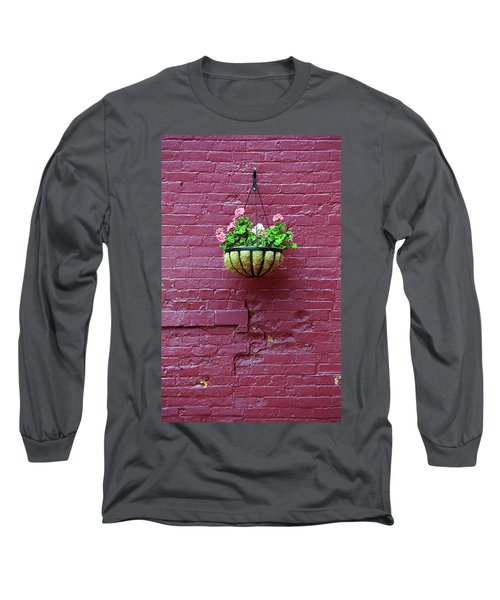 Long Sleeve T-Shirt featuring the photograph Rochester, New York - Purple Wall by Frank Romeo