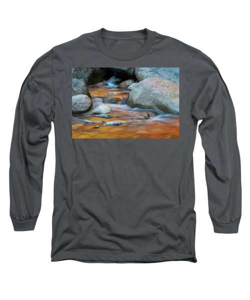 Long Sleeve T-Shirt featuring the photograph Rock Cave Reflection Nh by Michael Hubley