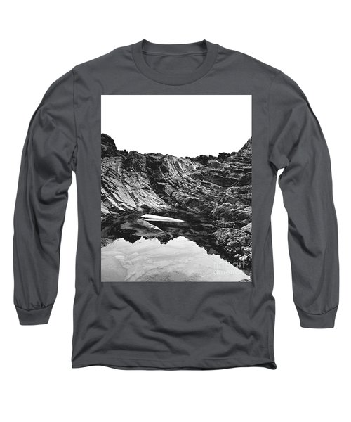 Long Sleeve T-Shirt featuring the photograph Rock - Detail by Rebecca Harman