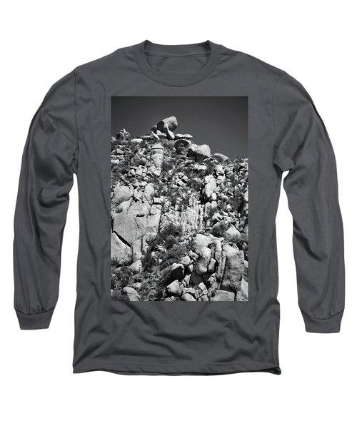 Rock Face Sandia Mountain Long Sleeve T-Shirt