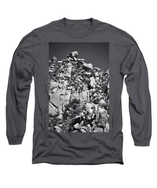 Rock Face Sandia Mountain Long Sleeve T-Shirt