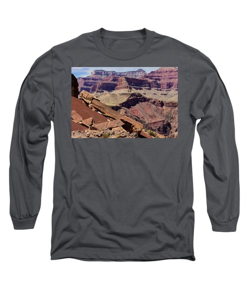 Rock Formations In The Grand Canyon Long Sleeve T-Shirt