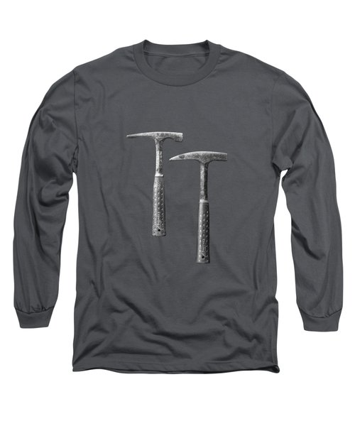 Rock Hammers On Plywood In Bw 65 Long Sleeve T-Shirt