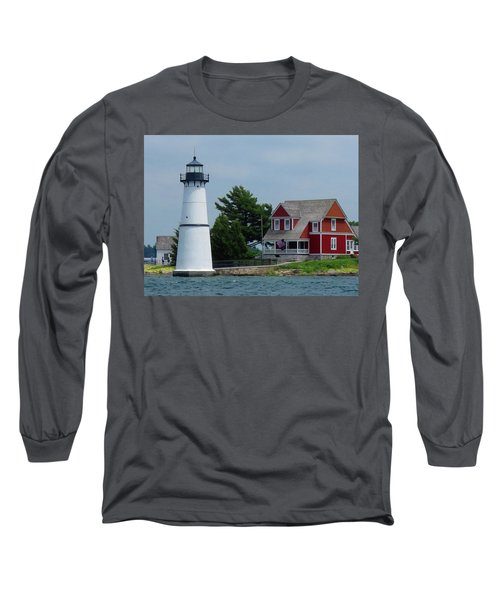 Rock Island Lighthouse July Long Sleeve T-Shirt