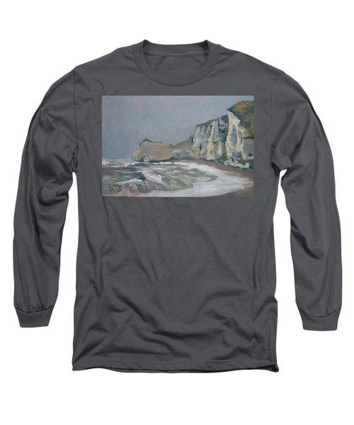 Rock Of Amont Etretat After The Rain Long Sleeve T-Shirt