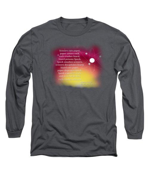 Rock - Paper - Scissors - Lizard - Spock Long Sleeve T-Shirt by Paulette B Wright