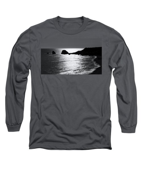 Rock Silhouette Long Sleeve T-Shirt by Mike Santis