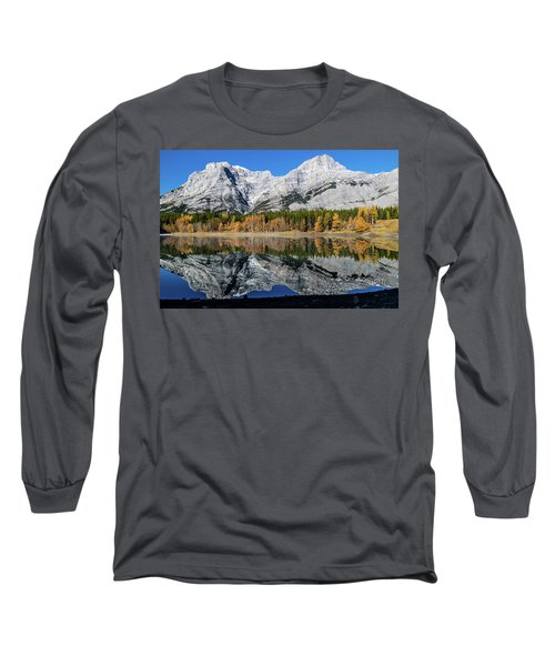 Rockies From Wedge Pond Under Late Fall Colours, Spray Valley Pr Long Sleeve T-Shirt