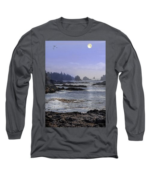 Rocks And Moon And Water Long Sleeve T-Shirt