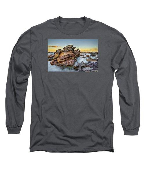 Rocks And Sea Long Sleeve T-Shirt by Martin Capek