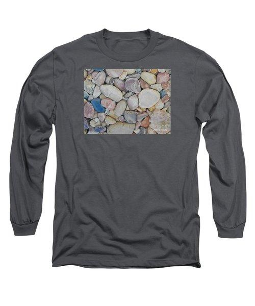 Beach Rocks, Mexico Long Sleeve T-Shirt