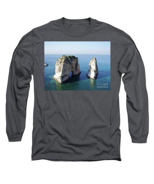 Rocks In Sea Long Sleeve T-Shirt