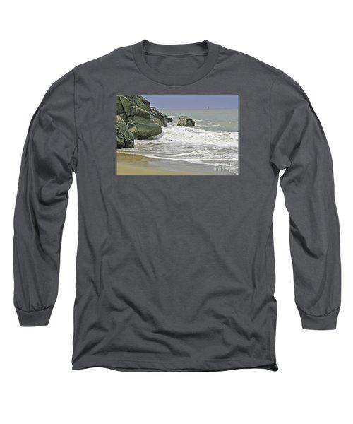 Rocks, Sand And Surf Long Sleeve T-Shirt