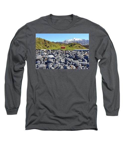 Long Sleeve T-Shirt featuring the photograph Rocky Beach Iceland by Edward Fielding