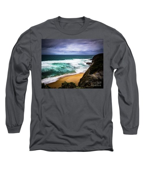 Long Sleeve T-Shirt featuring the photograph Rocky Coast by Perry Webster