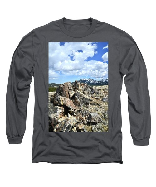 Rocky Crest At Big Horn Pass Long Sleeve T-Shirt
