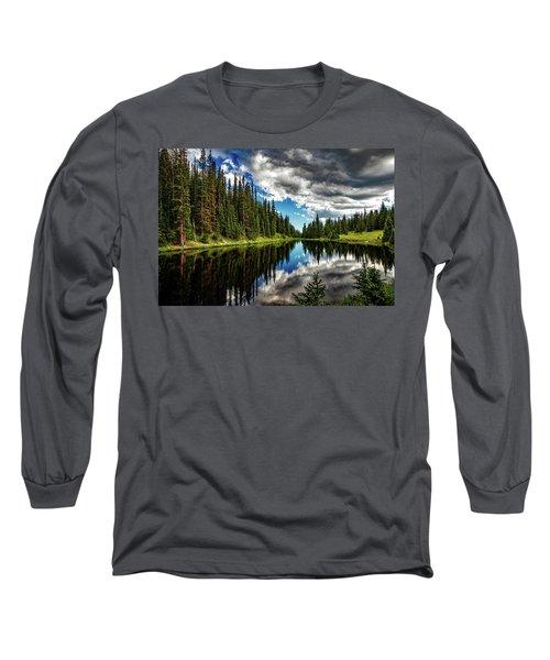 Rocky Mountain Lake Irene Long Sleeve T-Shirt