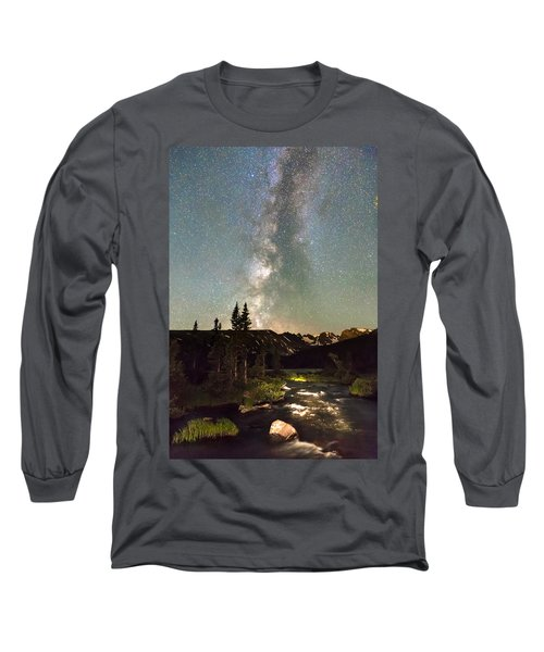 Rocky Mountain Night Long Sleeve T-Shirt