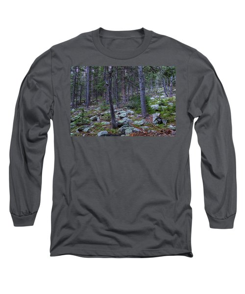 Long Sleeve T-Shirt featuring the photograph Rocky Nature Landscape by James BO Insogna