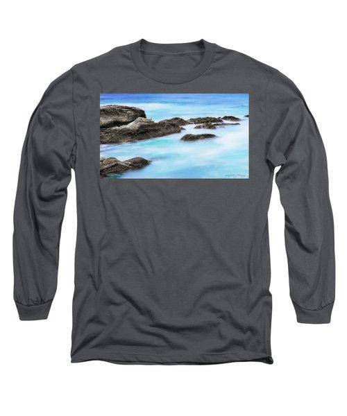Rocky Ocean Long Sleeve T-Shirt by John A Rodriguez