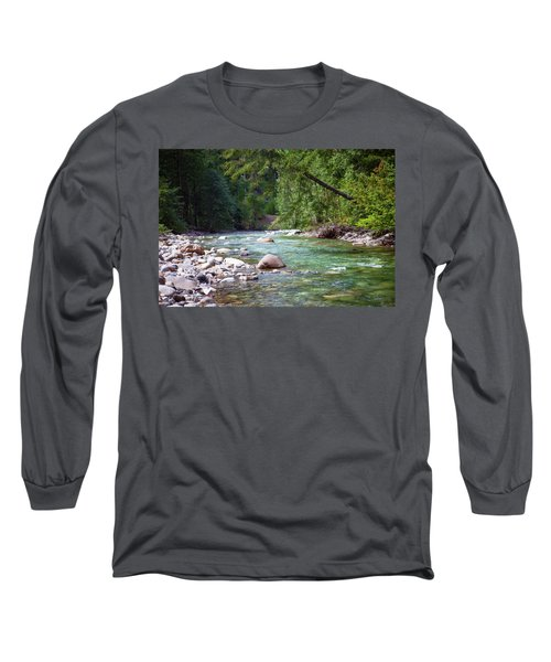 Rocky Waters In The North Cascades Landscape Photography By Omas Long Sleeve T-Shirt