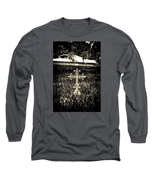 Rod Iron Cross  Long Sleeve T-Shirt by Michael White