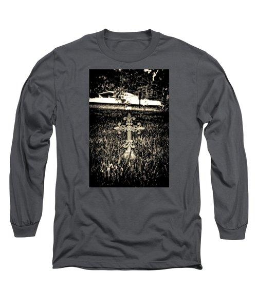 Rod Iron Cross  Long Sleeve T-Shirt