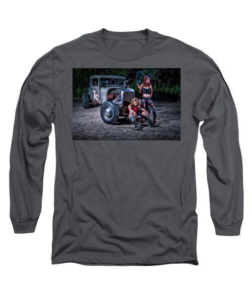 Rodders #2 Long Sleeve T-Shirt by Jerry Golab