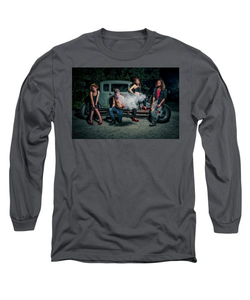 Rodders #3 Long Sleeve T-Shirt by Jerry Golab