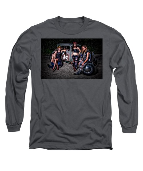 Rodders #4 Long Sleeve T-Shirt by Jerry Golab