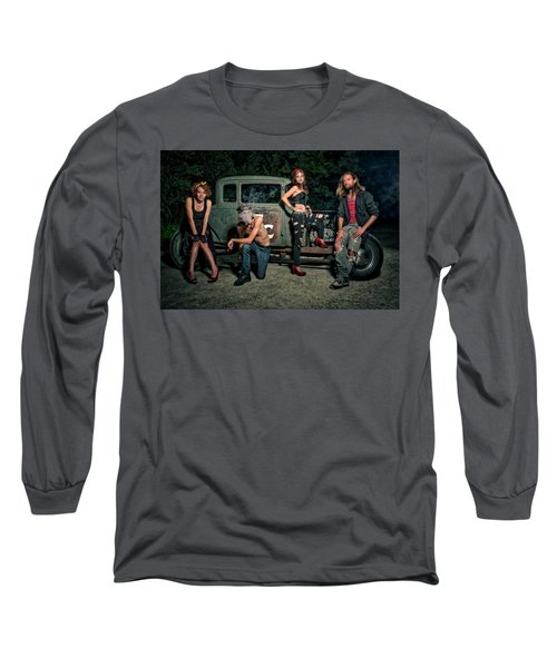 Rodders #5 Long Sleeve T-Shirt by Jerry Golab