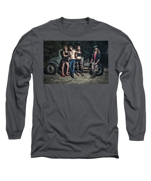 Rodders #6 Long Sleeve T-Shirt by Jerry Golab