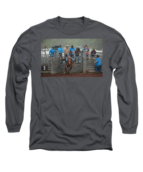 Long Sleeve T-Shirt featuring the photograph Rodeo Bronco by Lori Seaman