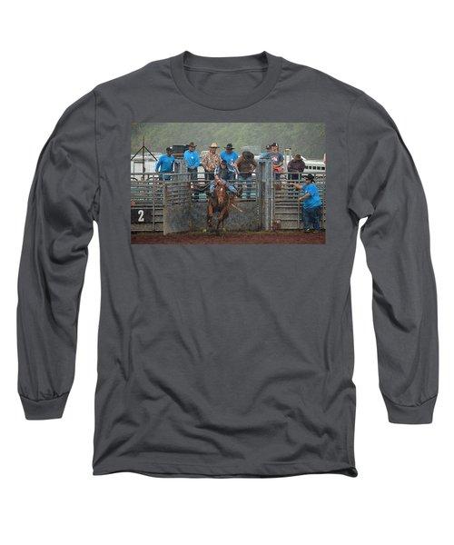 Rodeo Bronco Long Sleeve T-Shirt by Lori Seaman