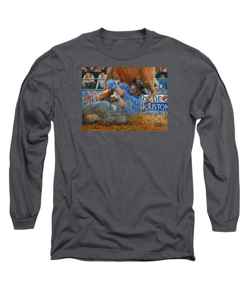 Rodeo Houston --steer Wrestling Long Sleeve T-Shirt by Doug Kreuger