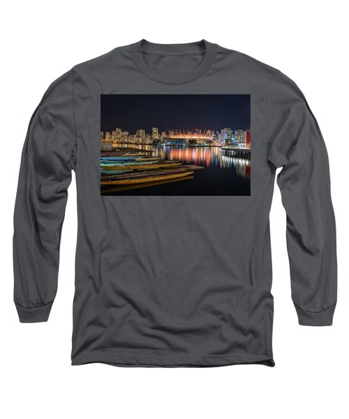 Rogers Arena Vancouver Long Sleeve T-Shirt by Sabine Edrissi