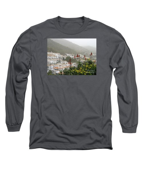 Long Sleeve T-Shirt featuring the photograph Rojo In The Pueblos Blancos by Suzanne Oesterling