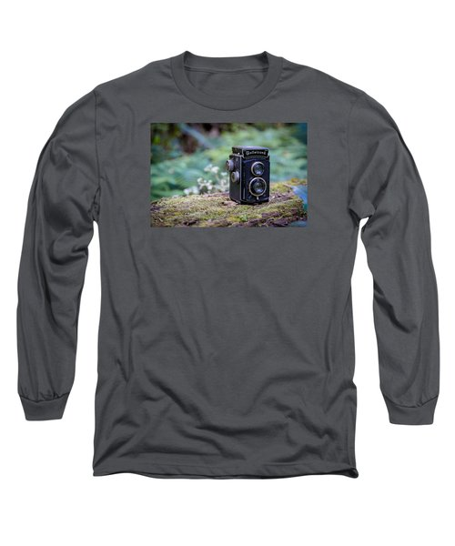 Long Sleeve T-Shirt featuring the photograph Rolleicord Tlr by Keith Hawley