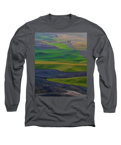 Rolling Fields Of The Palouse Long Sleeve T-Shirt by James Hammond