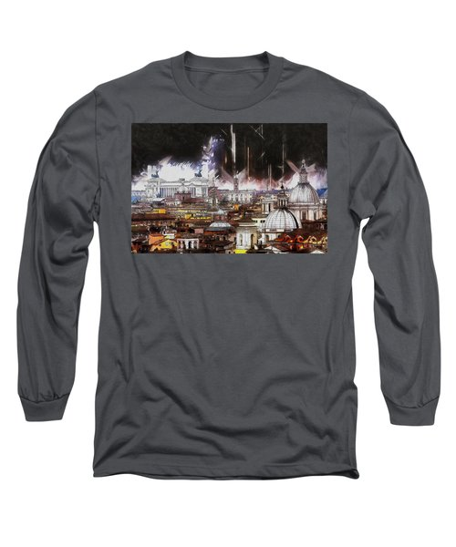Long Sleeve T-Shirt featuring the painting Roma Aeterna by Kai Saarto
