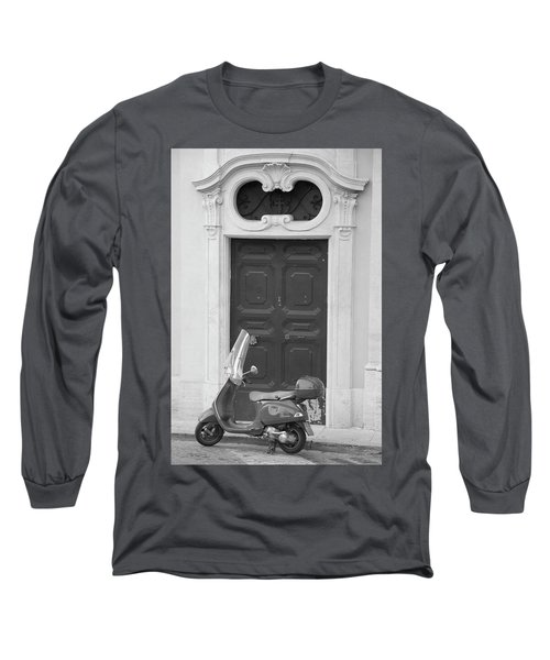 Roma Vespa And Door  Long Sleeve T-Shirt