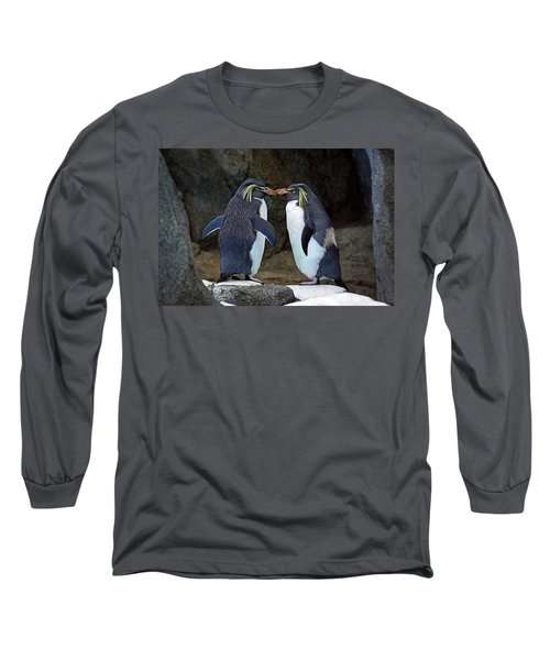 Romantic Rockhoppers Long Sleeve T-Shirt by Inge Riis McDonald