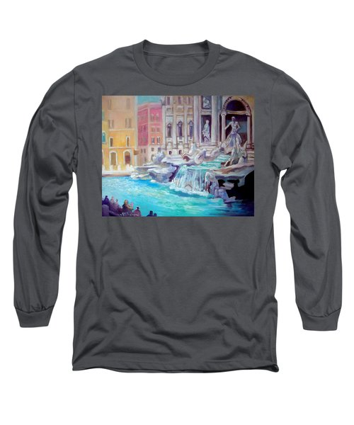 Long Sleeve T-Shirt featuring the painting Rome  Italy by Paul Weerasekera