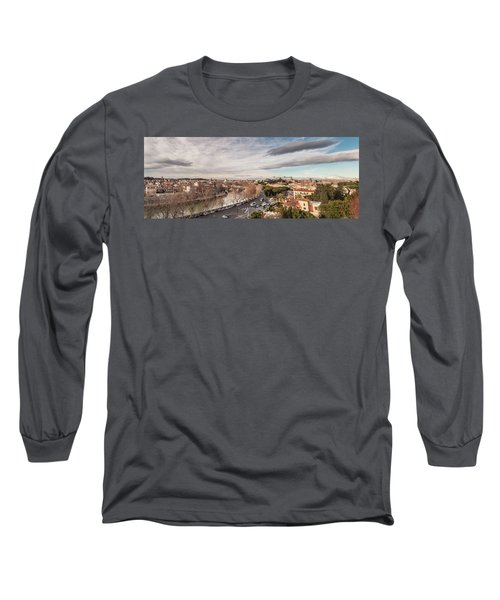 Rome - Panorama  Long Sleeve T-Shirt by Sergey Simanovsky