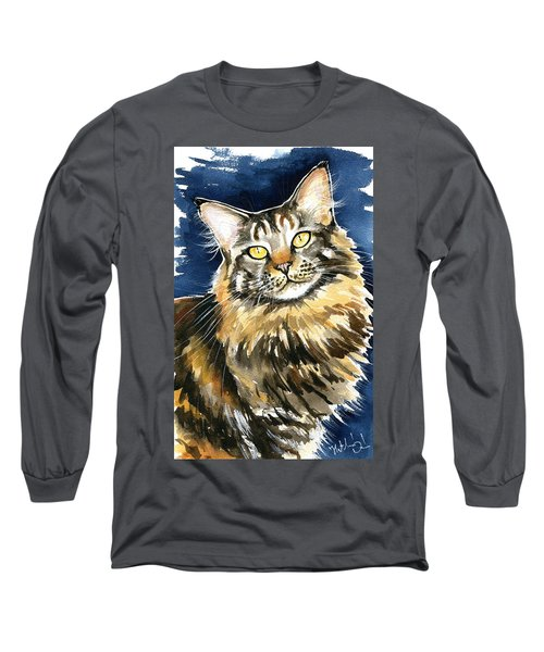 Ronja - Maine Coon Cat Painting Long Sleeve T-Shirt