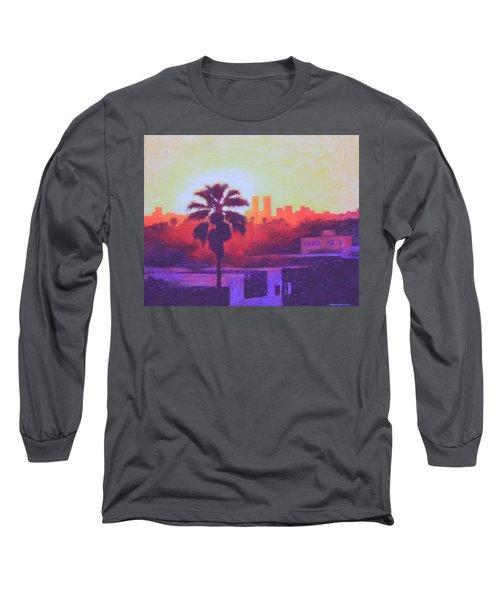 Rooftop Glow Long Sleeve T-Shirt by Andrew Danielsen