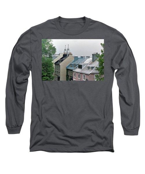 Long Sleeve T-Shirt featuring the photograph Rooftops by John Schneider